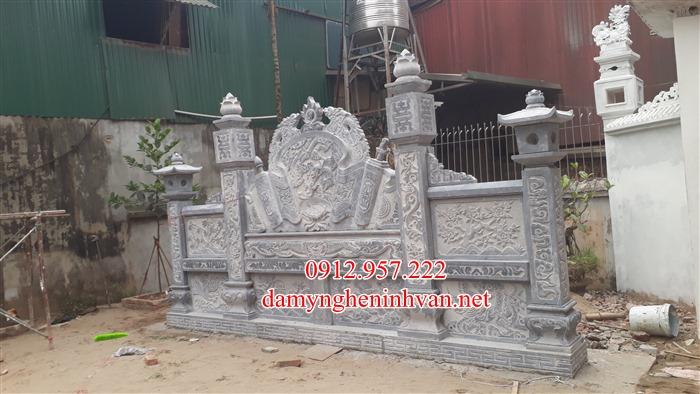 Bình phong đá nhà thờ họ đẹp Hà Nội