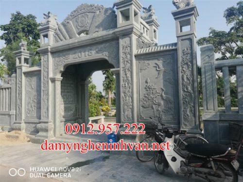 Cổng biệt thự nhà riêng bằng đá đẹp tại Hà Nội -CDHN02, Cổng nhà riêng bằng đá tại Hà Nội, Cổng đá biệt thự tại Hà Nội, Cổng đá Hà Nội
