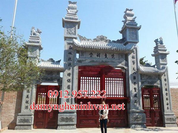 Cổng chùa hà nôi bằng đá - CDHN03