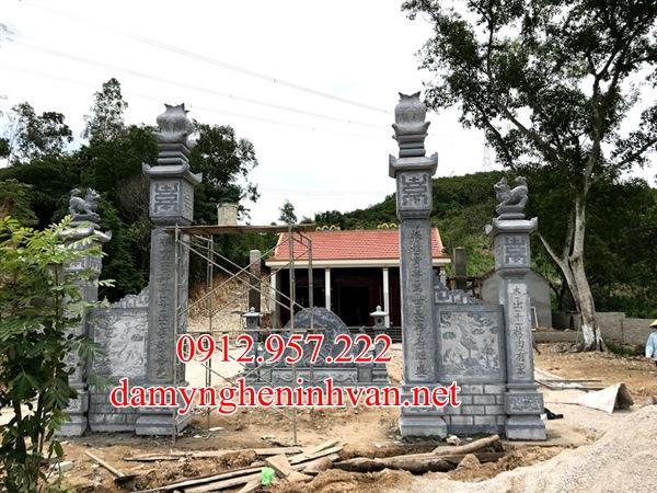 Cổng đình đẹp làm bằng đá khối tại Bắc giang, Cổng đình bằng đá tại Bắc Giang,Mẫu cổng đình đẹp tại Bắc Giang
