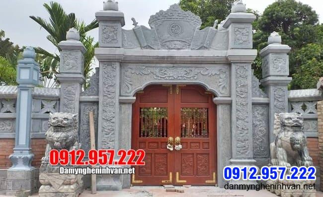 cổng nhà thờ họ bằng đá đẹp lắp đặt tại Hà Nội