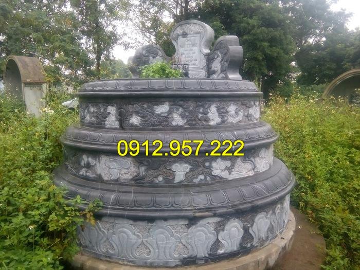 Mẫu mộ đá tròn đẹp của Đá mỹ nghệ Ninh Vân