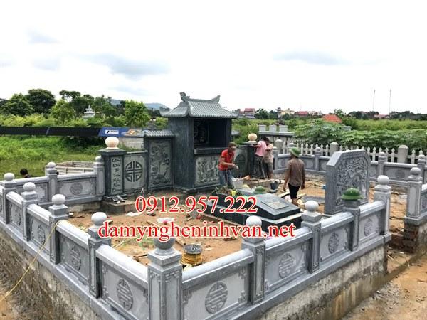 Khu lăng mộ đá gia đình dòng họ đẹp tại Hà Tĩnh