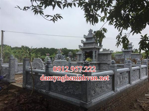 39 Mẫu khu lăng mộ đá xanh đẹp đơn giản làm tại Quảng Bình