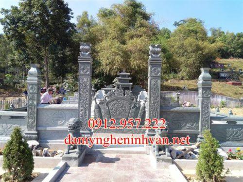 Làm khu lăng mộ đá xanh rêu đẹp tại Bắc Giang- LMDBG01