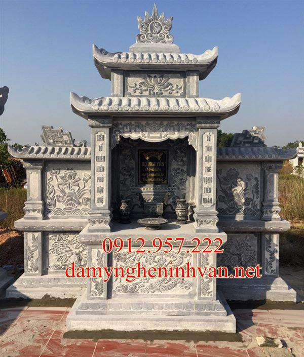 Làm lăng thờ chung bằng đá tại Thái Bình