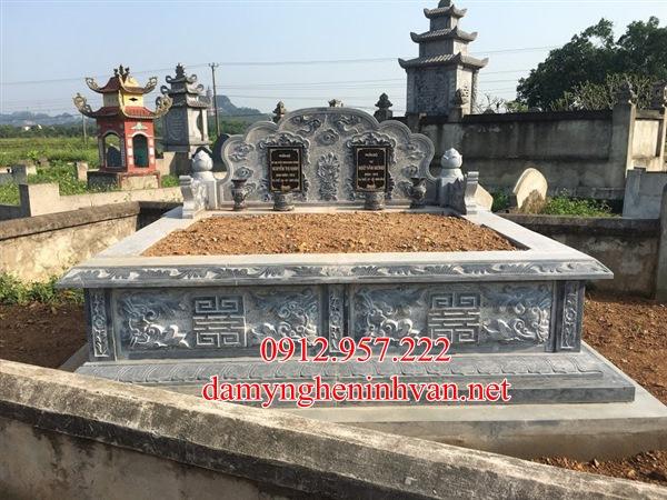 Làm mẫu mộ đôi đẹp đá xanh Vĩnh Phúc, Mộ đôi đẹp tại Vĩnh Phúc