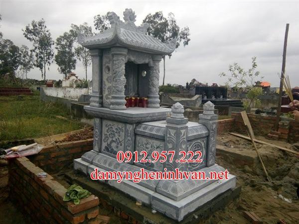 Làm mộ đá một mái đẹp tại Nam Định - MDND02, Mộ đá đẹp Nam ĐỊnh,