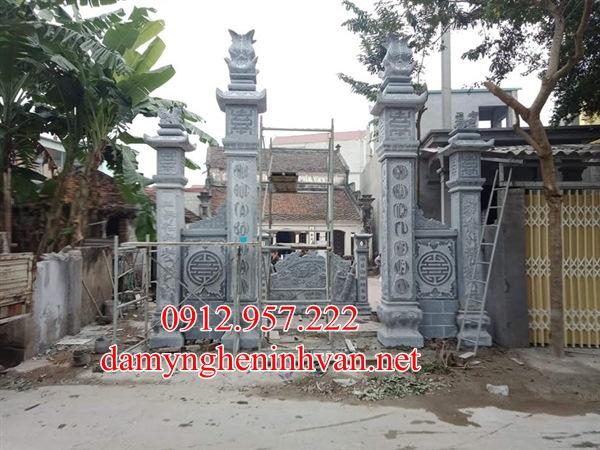 Mẫu cổng đá nhà thờ họ đẹp tại Hải Phòng