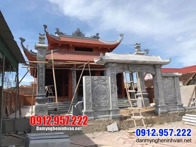 mẫu cổng nhà thờ họ bằng đá lắp đặt tại Hà Nội