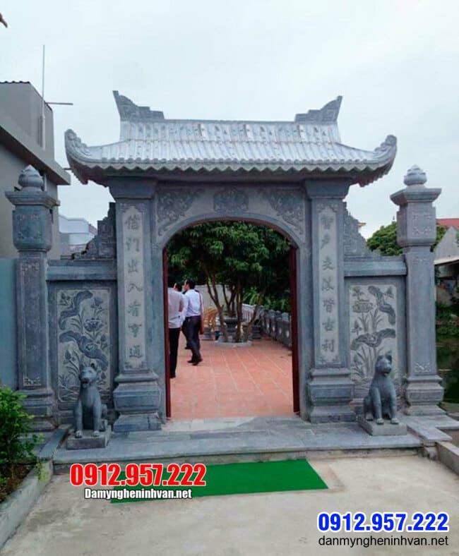 mẫu cổng nhà thờ họ bằng đá tại Hà Nội