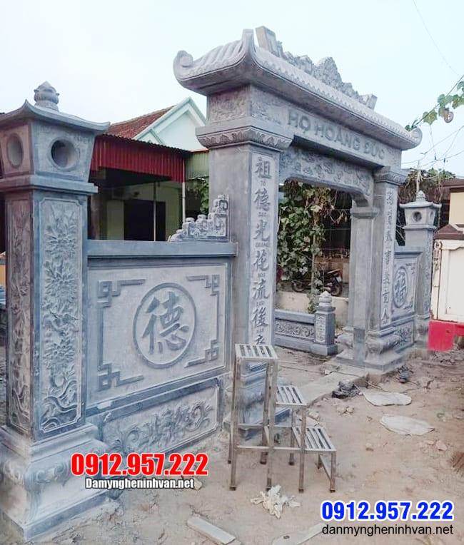 mẫu cổng nhà thờ họ lắp đặt tại Hà Nội
