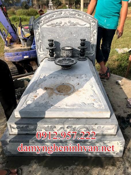 Mẫu mộ đá đẹp Hà Nội - MDHN04, Mộ đệp đơn giản Hà Nội, Mộ đá Hà Nội
