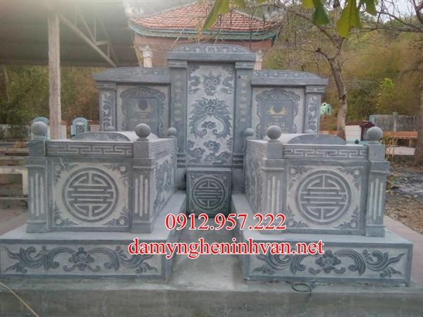 Mẫu mộ đá đôi đẹp xây tại Nam ĐỊnh - MDND03, Mẫu mộ đôi đẹp Nam ĐỊnh