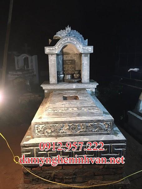 Mẫu mộ đẹp đơn giản tại Nam Định - MDND05, Mộ tam cấp đẹp bằng đá tại Nam ĐỊnh