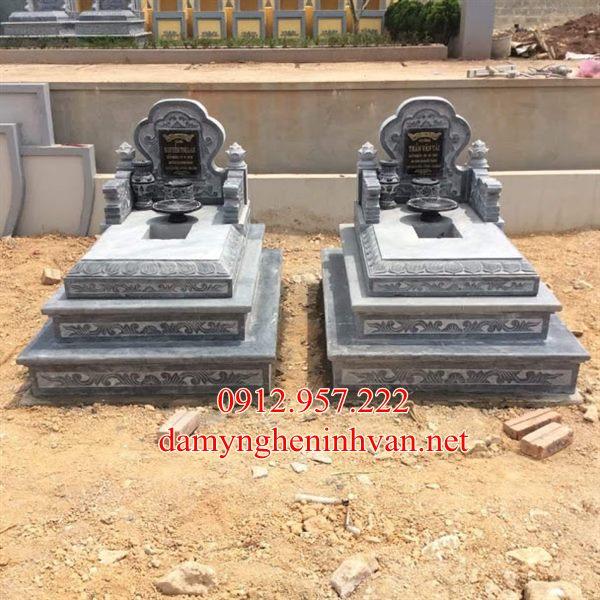 Mẫu mộ đẹp đơn giản - Mộ tam cấp đẹp Bác Giang