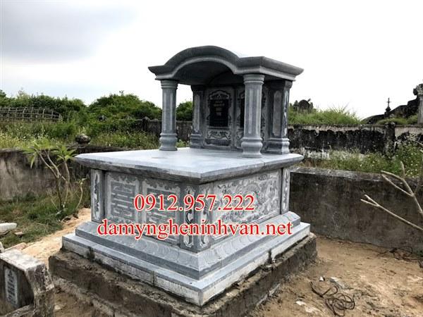 Mẫu mộ đôi xây đẹp tại Hà TĨnh, Mộ đôi đá tại Hà Tĩnh,