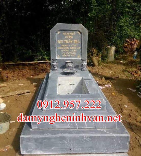 Mẫu mộ tam cấp đá đẹp đơn giản quảng Ninh, Mộ đá quảng Ninh