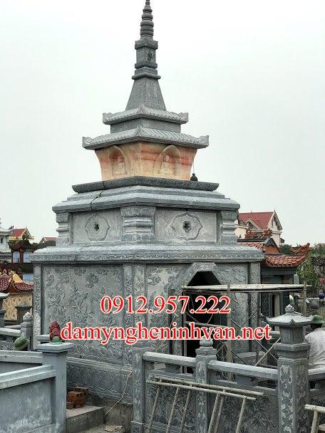 Mẫu mộ tháp đá đẹp người chăm tại Cần thơ