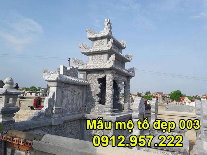 Mẫu mộ tổ bằng đá xanh tự nhiên đẹp nhất 003
