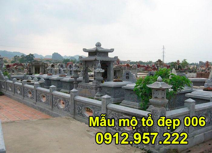 Mẫu mộ tổ bằng đá xanh tự nhiên đẹp nhất 006
