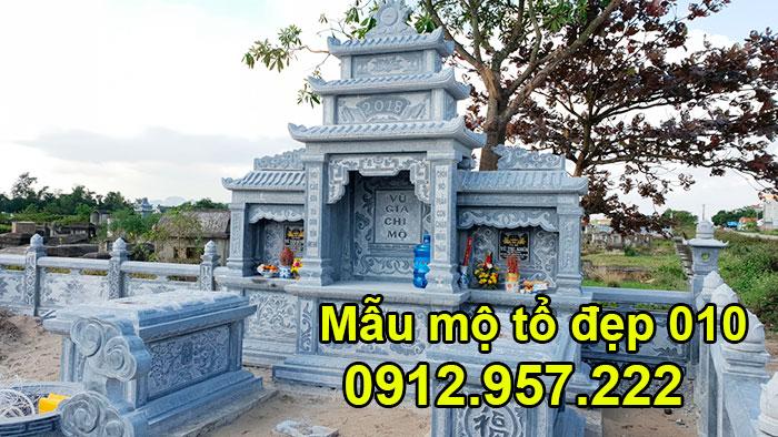 Mẫu mộ tổ bằng đá xanh tự nhiên đẹp nhất 010