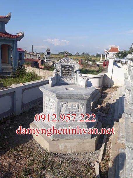 Mộ đá lục giác đẹp tại Bắc Giang MDBG04