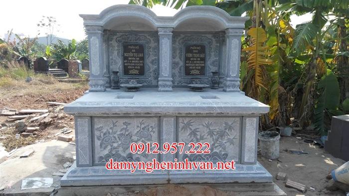 Mộ đoi đẹp đá xanh khối Hà Nội - MDHN01, Mộ đôi đẹp ở Hà Nội