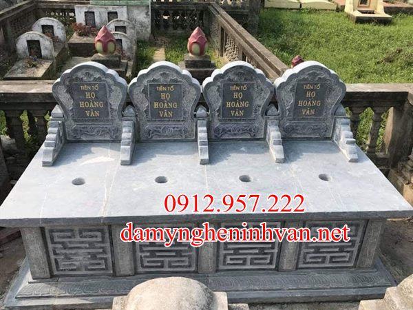 Mộ đôi đẹp đá xanh quảng Ninh MDQN01, Mộ đá quảng Ninh