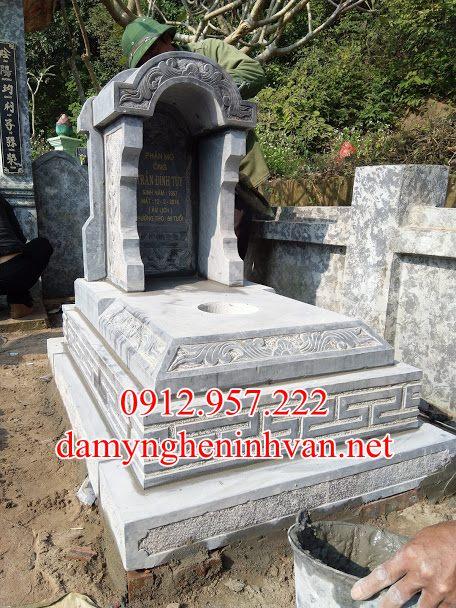 Mộ tam cấp đá một mái tại Hải Phòng, Mộ tam cấp đá Hải Phong , mẫu mộ đẹp đơn giản Hải Phòng