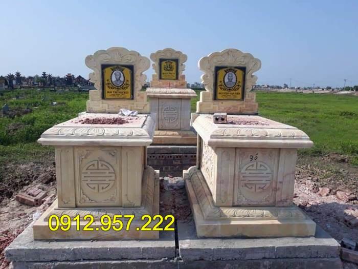 Mẫu mộ bành bằng đá đẹp, chuẩn phong thủy