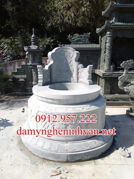 Xây mẫu mộ tròn đá đẹp Bắc Giang MTBG01; , mộ đá tròn bắc giang, Mẫu mộ tròn bắc giang, Mộ đá bắc giang, Mẫu mộ tròn đẹp bắc giang ;