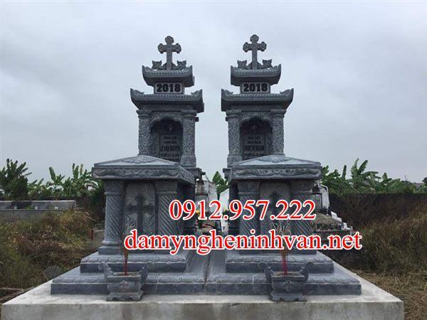Xây mộ công giáo đá đẹp phú thọ -MCGPT01, Mộ công giáo phú thọ