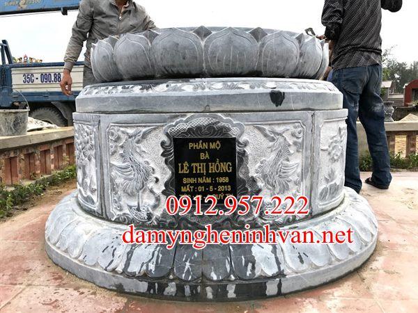 Xây mộ tròn đá đẹp tại Quảng Ninh, mộ tròn quảng Ninh , Mộ đá quảng Ninh