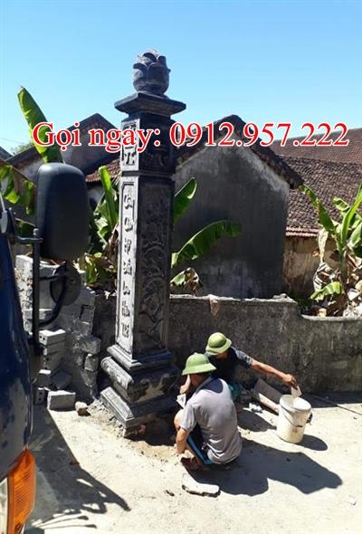 Côt- đồng trụ đá điêu khắc tinh xảo -CDT04, Cột đồng trụ đá nhà thờ họ