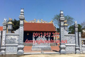 Cổng đá đẹp Bắc Ninh - Xây cổng đình bằng đá tại Bắc Ninh