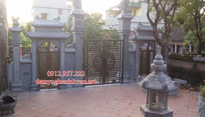 Cổng đá Hưng Yên – Làm cổng chùa cổng làng cổng đình cổng đền tại Hưng Yên