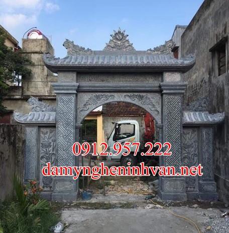 Cổng đá Phú Thọ - Chế tác cổng đình làng bằng đá tại Phú Thọ, Cổng làng bằng đá Phú Thọ , Cổng làng đẹp Phú THọ
