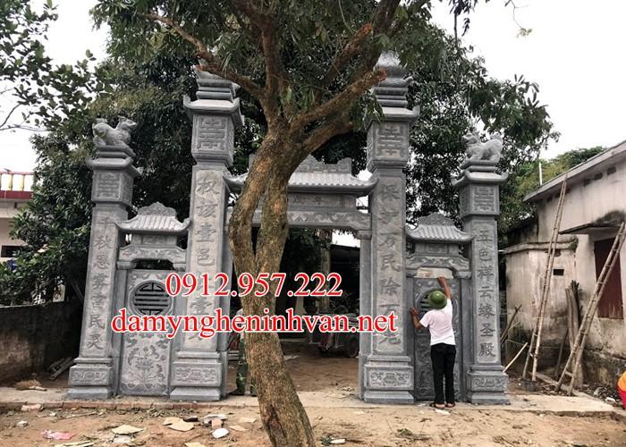 Cổng đá Thái Bình – Cổng đền, cổng đình, Cổng làng, Cổng chùa bằng đá xanh Thái Bình