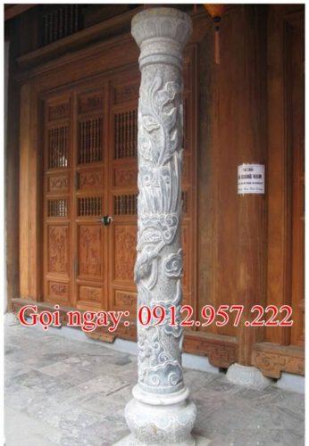 Cột đá làm nhà gỗ CD19 - Cột đá làm nhà thờ họ;