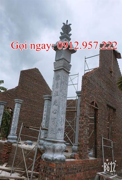 Cột đá nhà thờ họ -CDT03,