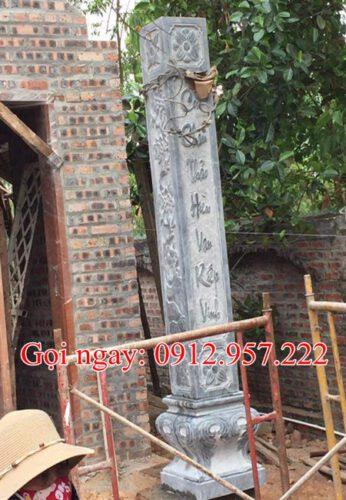 Cột đá nhà thờ tư gia CD20, Cột đá làm nhà thờ họ, Cột đá làm nhà gỗ