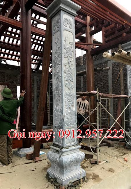 Cột hiên bằng đá hình vuông CHD02, Cột hiên nhà thờ họ, Cột hiên từ đường