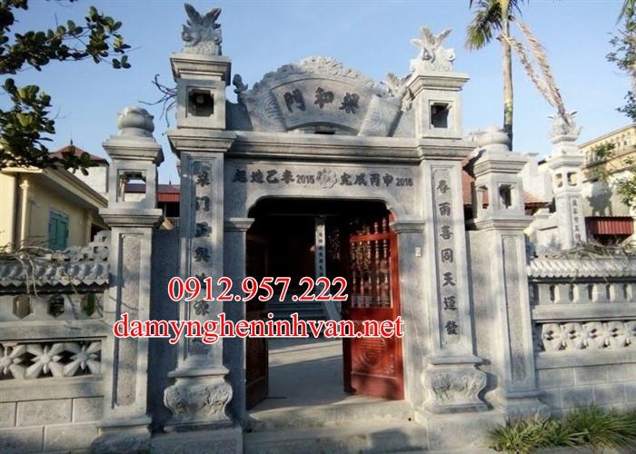 Cổng chùa đẹp xây bằng đá xanh đẹp tại Hưng Yên HY07, Cổng chùa đẹp Hưng Yên, Cổng đá tại Hưng Yên