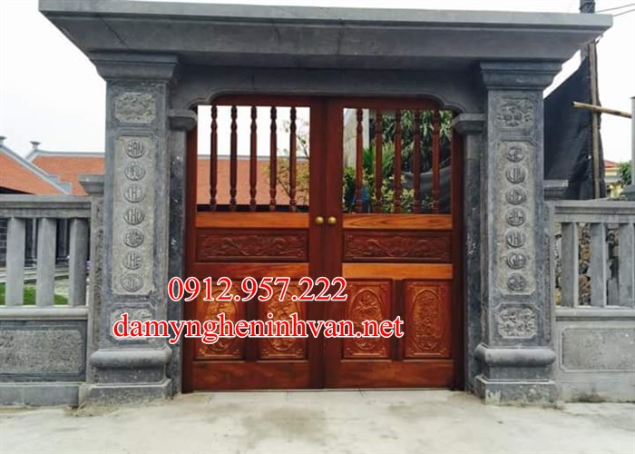 Cổng đá đẹp nhà thờ họ Thái Bình TB05, Cổng đá thái Bình ,