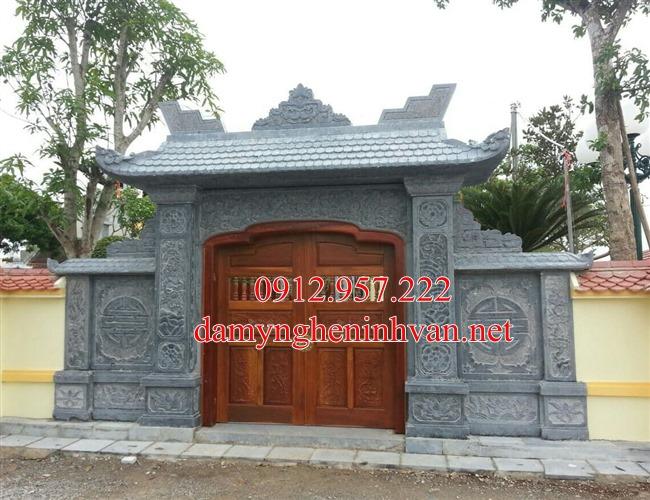Cổng đá nhà riêng biệt thự tại Bắc Ninh - BN03, cổng đá Bắc Ninh