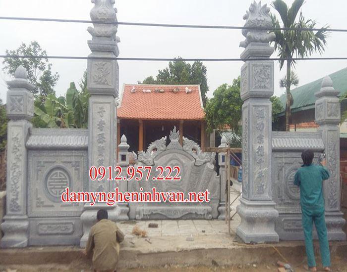Cổng đền bằng đá xanh khối đẹp tại Hưng Yên HY01, Cổng đền bằng đá tại Hưng Yên, Cổng đá Hưng Yên