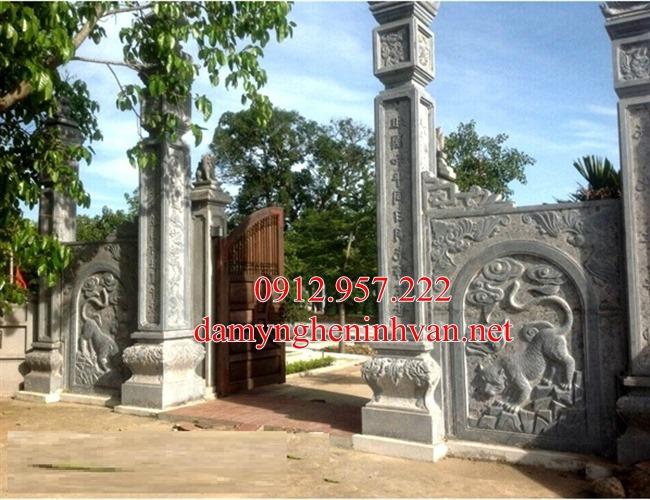 Cổng đền cổng chùa bằng đá tại Bắc Ninh _BN 01 , Cổng đá nhà riêng biệt thự tại Bắc Ninh - BN03, cổng đá Bắc Ninh