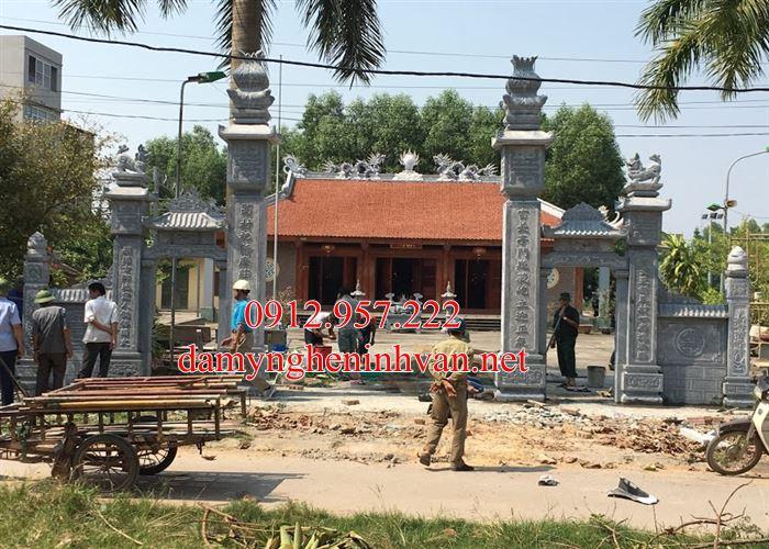 Cổng đá Phú Thọ - Chế tác cổng đình làng bằng đá tại Phú Thọ