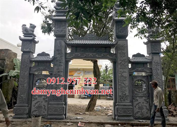 Cổng làng bằng đá xanh tự nhiên Hưng Yên HY06, cổng Làng đẹp tại Hưng Yên. Cổng đá Hưng Yên